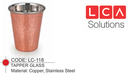 Picture of LACOPPERA GLASS TAPER HAMMERED 250 ML