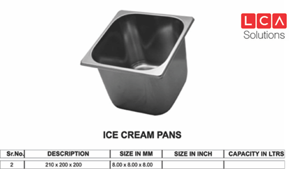 Picture of GN ICE CREAM PAN 8X8 200 MM