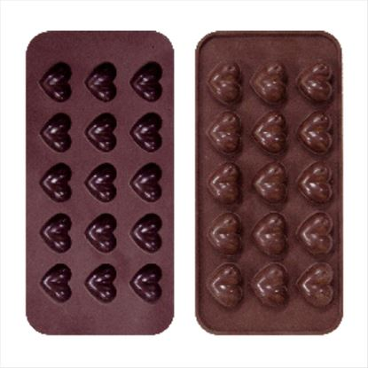 Picture of RENA SILICONE GIFT HEART ROSE CHOCOLATE MOULD
