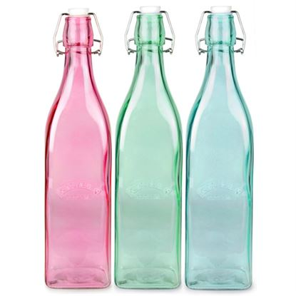 Picture of EAGLE BOTTLE SQUARE 1 LTR (COLOUR)