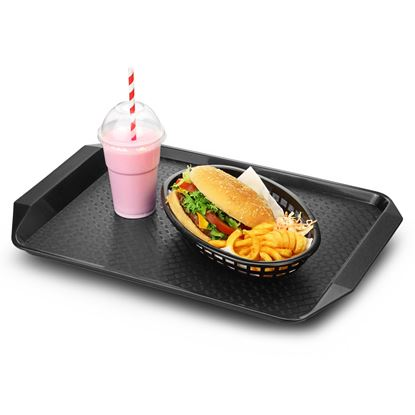 Picture of CAMBRO TRAY FAST FOOD W/H 13X17(BLACK)