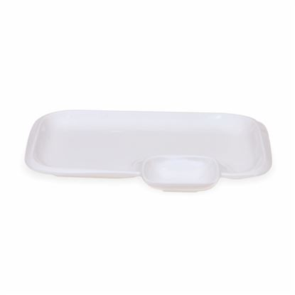 Picture of BONE-CHINA CHIP & DIP RECTANGLE (BIG)