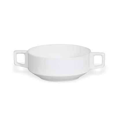 Picture of BONE-CHINA SOUP BOWL W/HANDLE