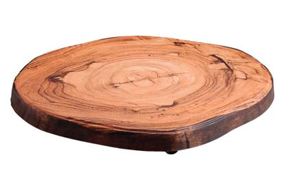 Picture of DINEWELL WOOD PLATTER ROUND CUT 0114