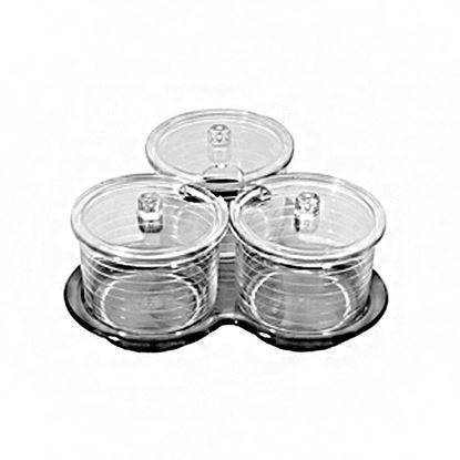 Picture of MUSKAN JAM POT TRAY SET (SMALL) BLACK