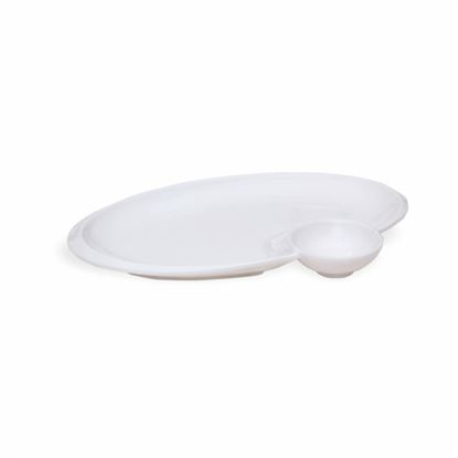 Picture of BONE-CHINA CHIP & DIP OVAL SMALL