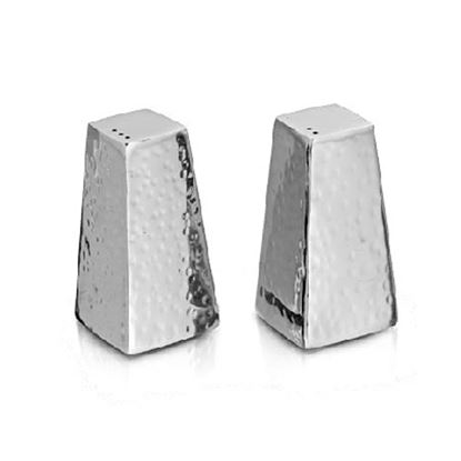 Picture of DESTELLER SALT & PEPPER PYRAMID HAMMERED