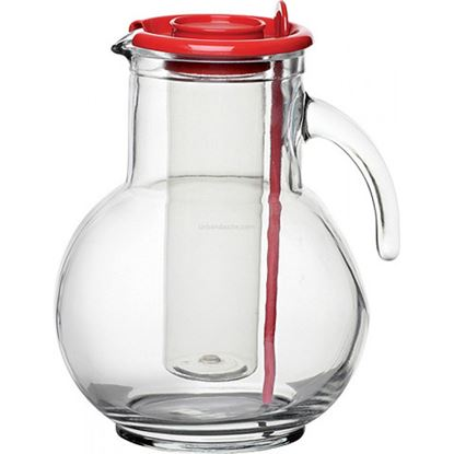 Picture of BORMIOLI ROCCO KUFRA JUG RED LID 215CL