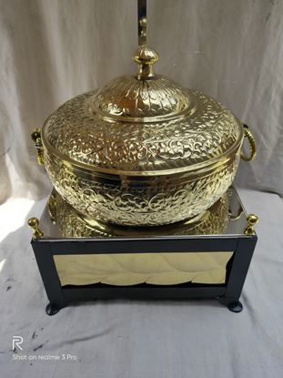 Picture of CHAFFEX HANDI BRASS BLACK CHOWKI