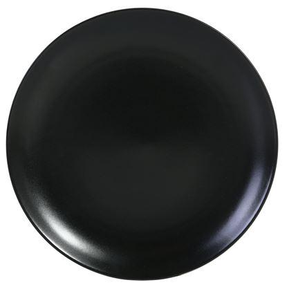 Picture of ARAINE DAZZLE BLACK ROUND RIMLESS PLATE 25.5 CM