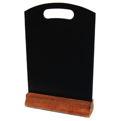 Picture of WOOD MENU STAND SLATE 5X7