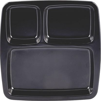 Picture of DINEWELL PARTITION PLATE (3P) 3073 (BLACK)