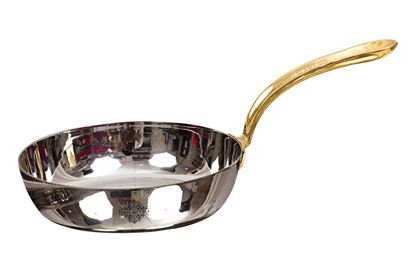 Picture of DESTELLER FRY PAN BRASS HANDLE MIRROR (NO2)