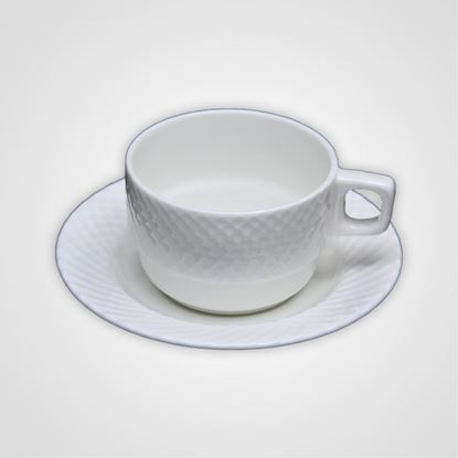 Picture of BONE-CHINA DIAMOND SAUCER BIG
