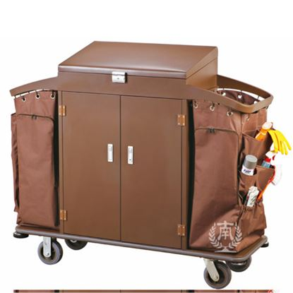 Picture of HK HOUSE KEEPING TROLLEY  DOUBLE W/DOOR