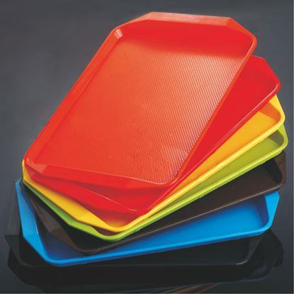 Picture of CAMBRO TRAY FAST FOOD W/H 11X13 (RED)
