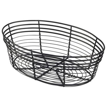 Picture of IG BREAD BASKET OVAL BLACK 22X12X5.5CM