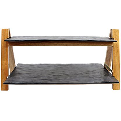 "Picture of STO RISER RECT WOODEN 16X6"",16""X9"