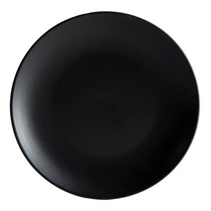 Picture of ARIANE DAZZLE BLACK ROUND RIMLESS PLATE 18CM
