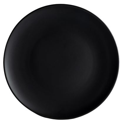 Picture of ARIANE DAZZLE BLACK ROUND RIMLESS PLATE 25.5 CM