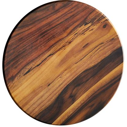 Picture of DINEWELL WOOD PLATTER ROUND SMALL 0104