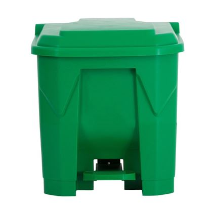 Picture of CHAFFEX PEDAL DUSTBIN PLASTIC 30L (GREEN)
