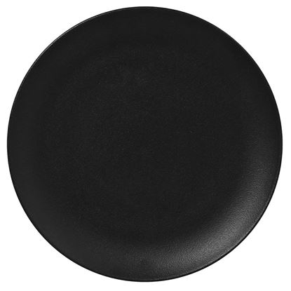 Picture of ARIANE DAZZLE BLACK ROUND RIMLESS PLATE 27 CM