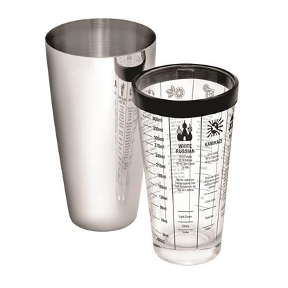 Picture of KMW SHAKER BOOSTEN 30 OZ 2P (VYNL +GLASS MESAURE)