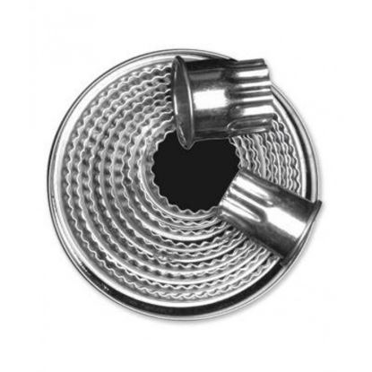 Picture of CHAFFEX COOKIE CUTTER ROUND SS 12 IN 1 GROOVE