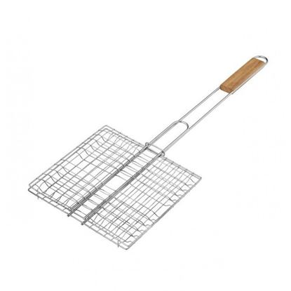 Picture of IG BBQ GRILL SQ WITH WOOD HANDLE(30X30CM)