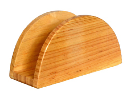 Picture of KVG NAPKIN HOLDER ROUND RUBBER WOOD K0117